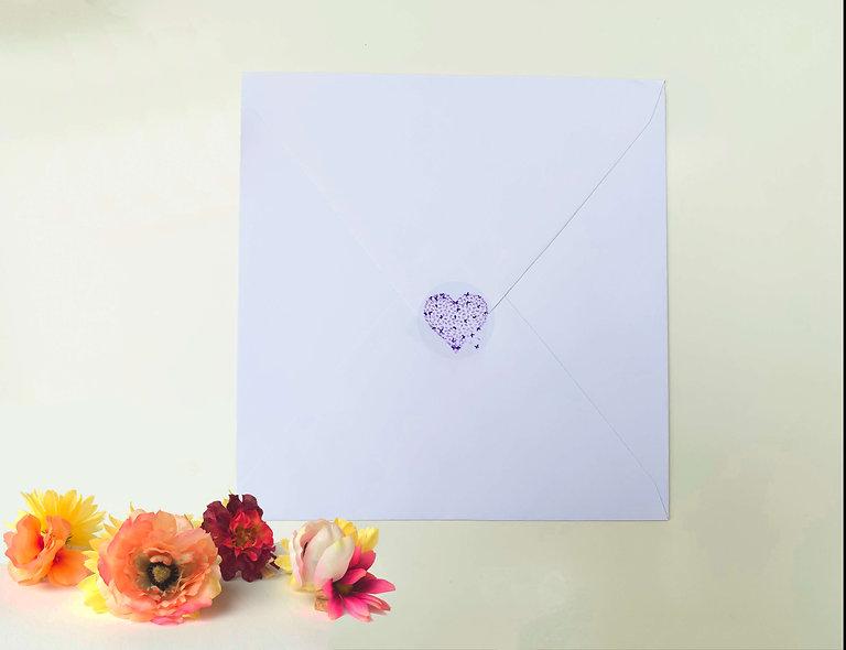 Purple Butterfly Heart Stickers