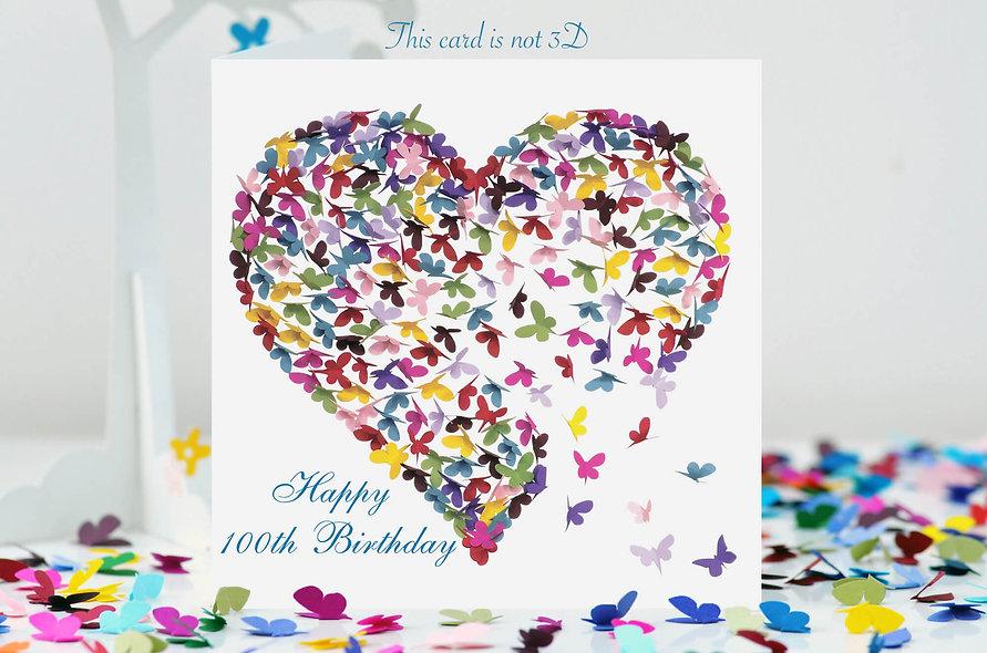 100th BirthdayHeart Card