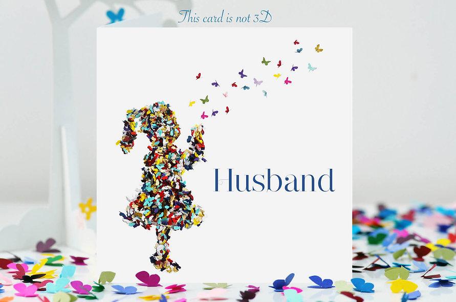 Husband Kisses Card