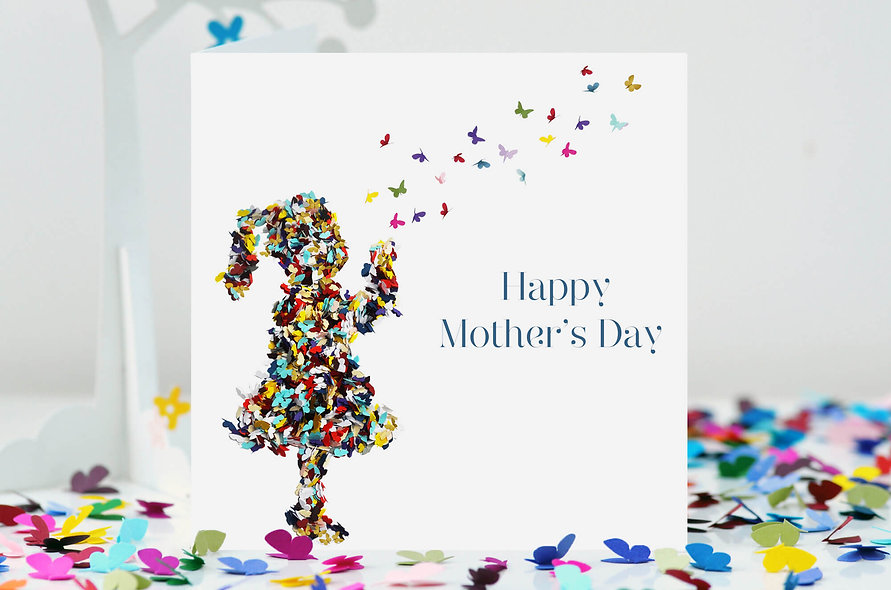 Mother's Day Kisses Butterfly Card