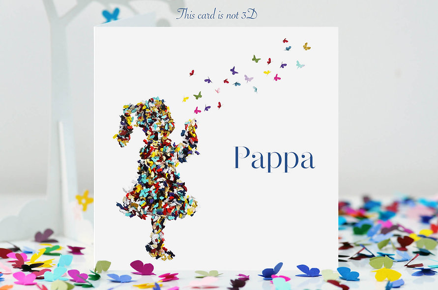 Pappa Kisses Butterfly Card