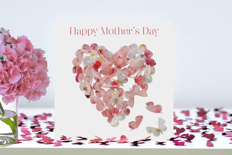 Mother's Day Cherry Blossom Heart