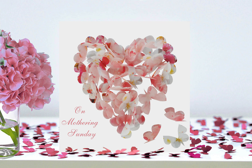 On Mothering Sunday Cherry Blossom Heart