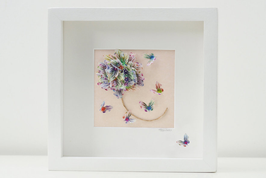 Memories Butterfly Flower Artwork