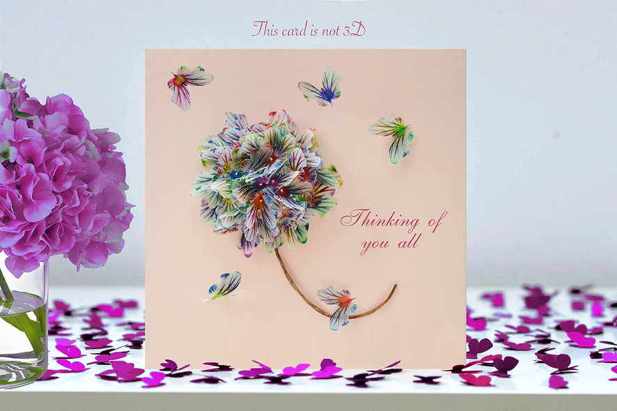 Thinking Of You All Flower Card