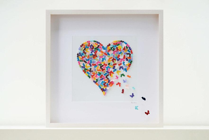 Kaleidoscope Butterfly Heart 50x50cm