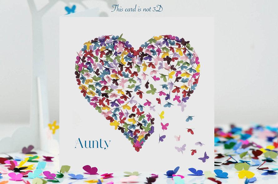 Aunty Kaleidoscope Heart Card