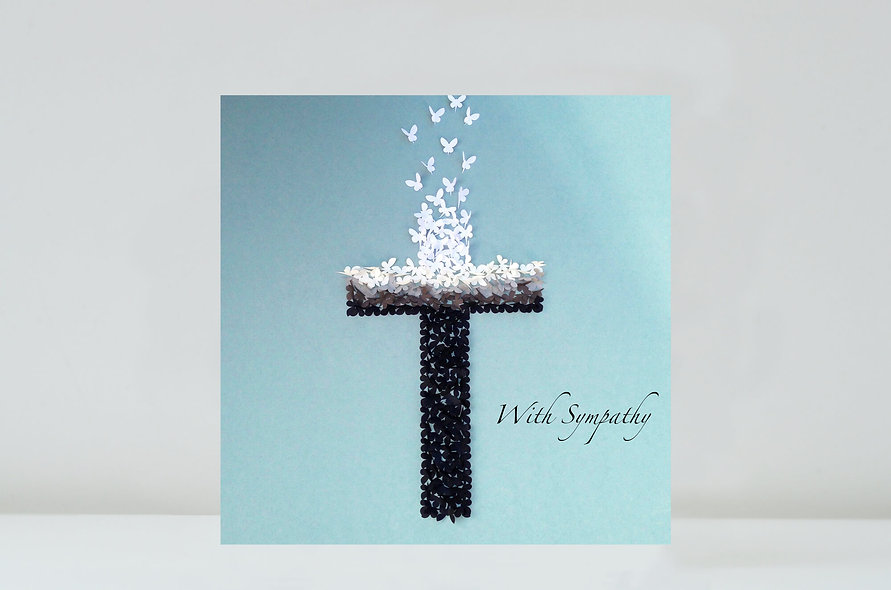 The Cross With Sympathy Card, Christian With Sympathy Card