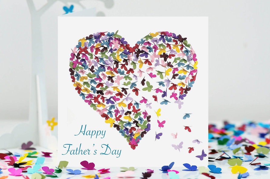 Happy Father's Day Butterfly Heart Card