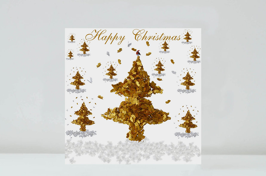 Butterfly Christmas Tree Christmas Card