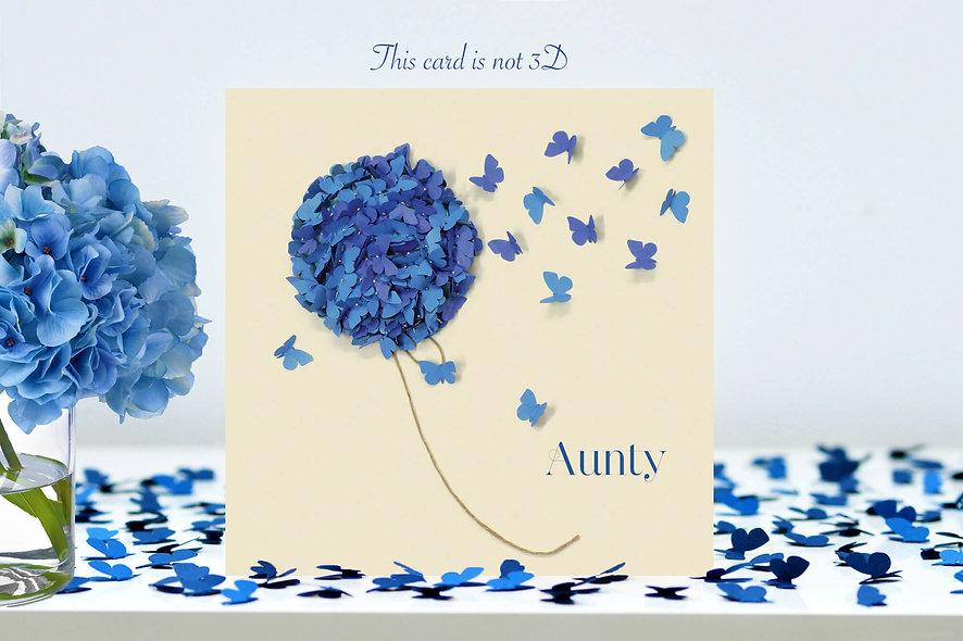 Aunty Blue Hydrangea Card