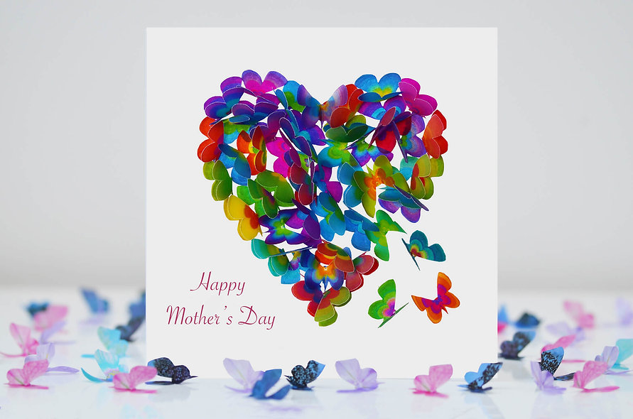 Mother's Day Butterfly Heart Card