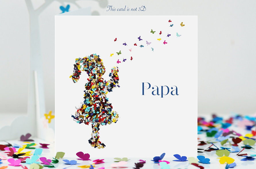 Papa Kisses Butterfly Card