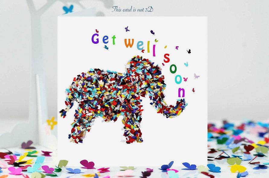 Elephant Get Well Soon Card