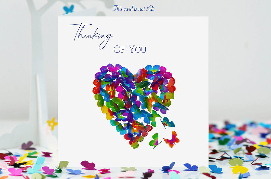 Butterfly Heart Thinking of You Card
