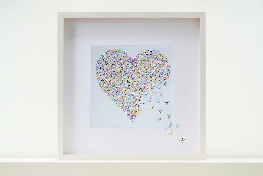 Multicoloured Grace Butterfly Artwork