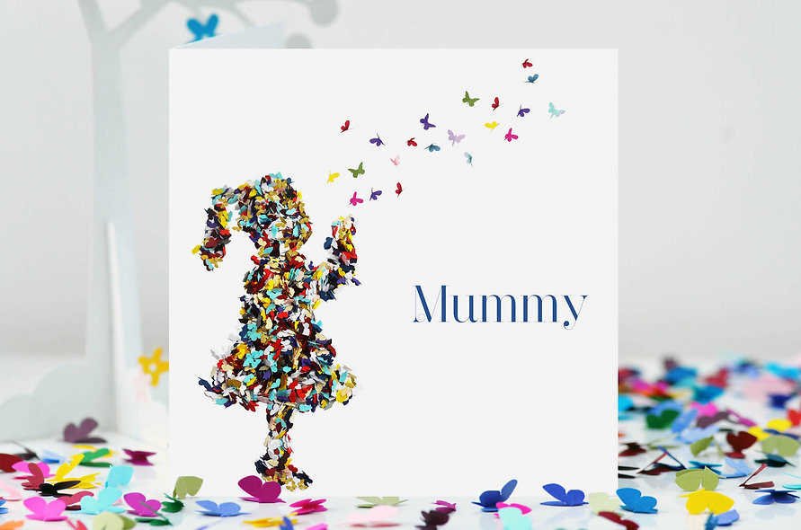 Mummy Kisses Butterfly Card