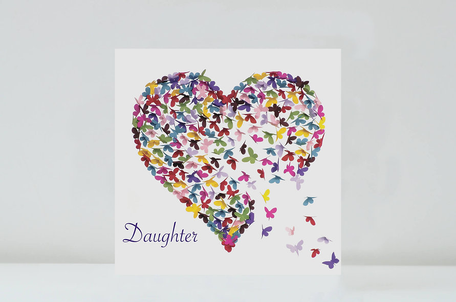 Kaleidoscope Butterfly Daughter Card, Daughter Butterfly Birthday Card