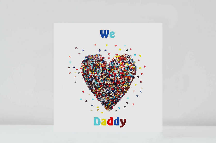 We Love Daddy Card, Daddy Butterfly Love Card