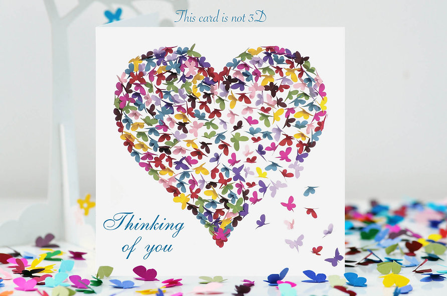 Kaleidoscope Thinking Of You Heart Card
