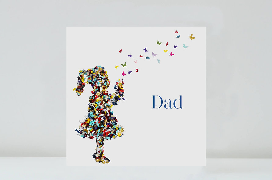 Dad Kisses Butterfly Card