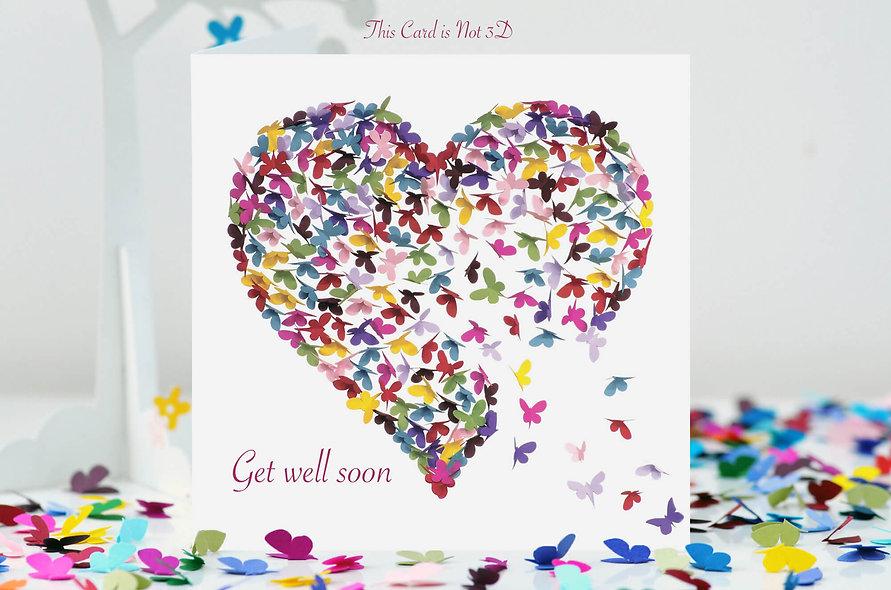 Butterfly Heart Get Well Card