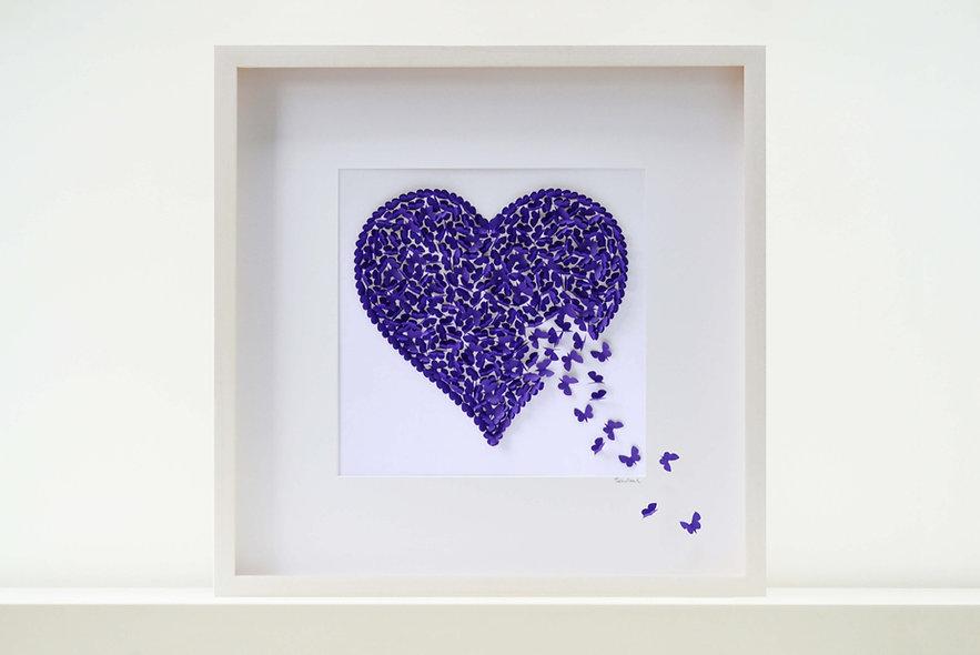 Purple Heart Large Picture 50x50cm