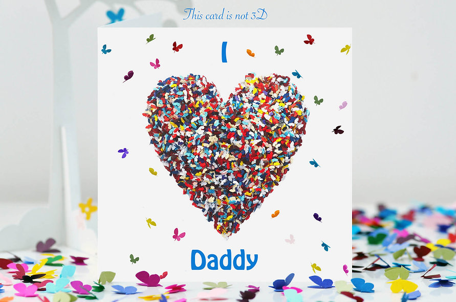 I Love Daddy Birthday Card, We Love Daddy Card