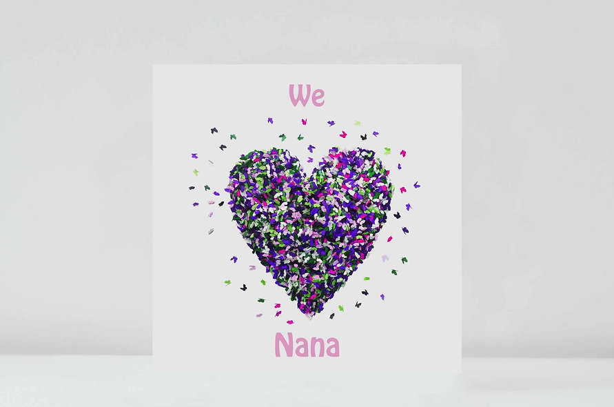 Butterfly Nana Card, I/We Love Nana