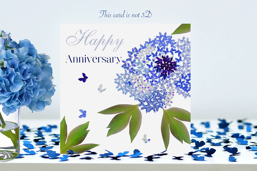 Butterfly Flower Anniversary Card