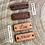 Essence de bois dipsonible pour le bracelet à message