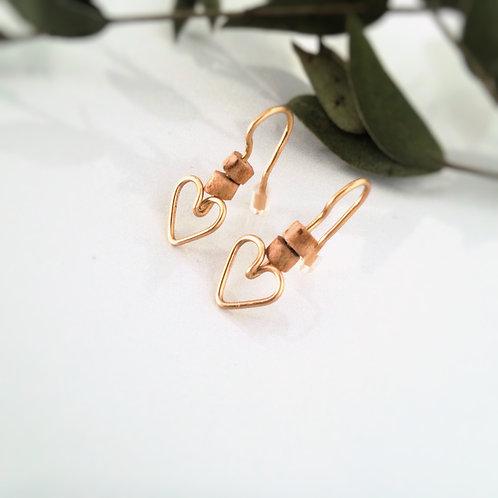 Boucles d'oreilles pendantes vegan or argent bois
