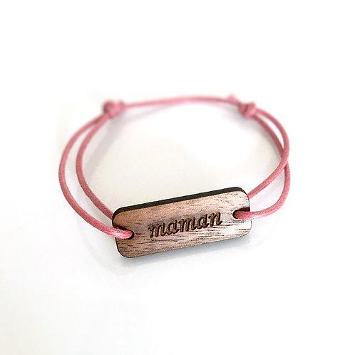 Bracelet message en bois fait en France