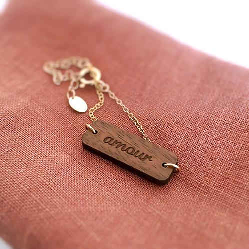 Bracelet bois ajustable