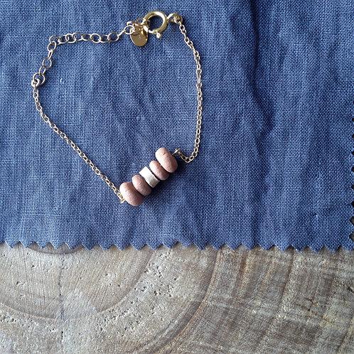 Bracelet de créateur bohème argile