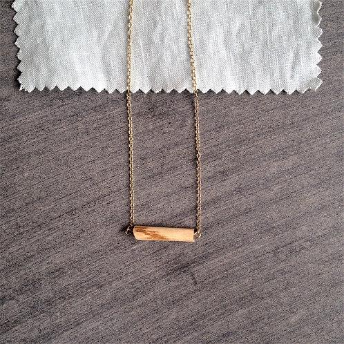 Collier unique bois brut bohème chic