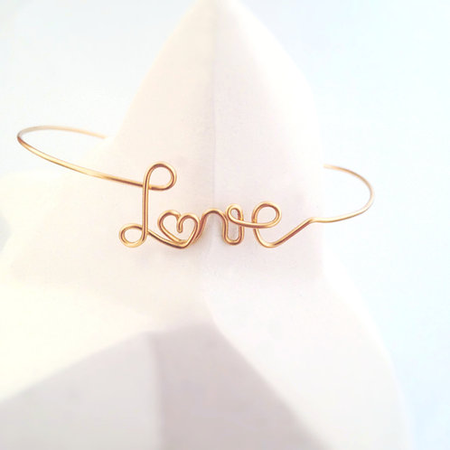 Bracelet Love jonc or personnalisable