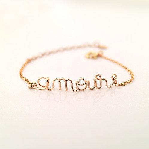 Bracelet amour or