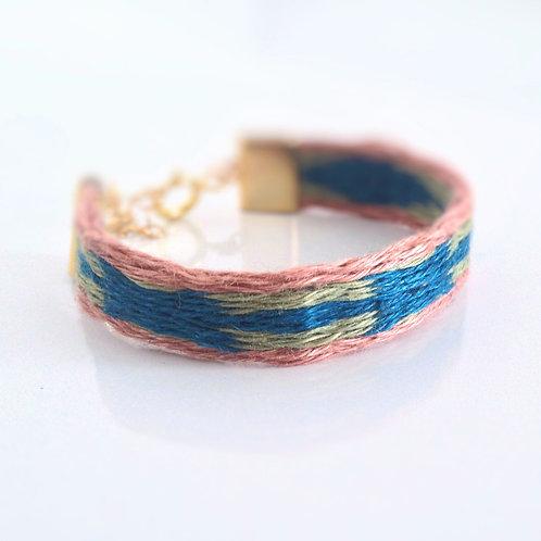 Bracelet tissé originale en lin