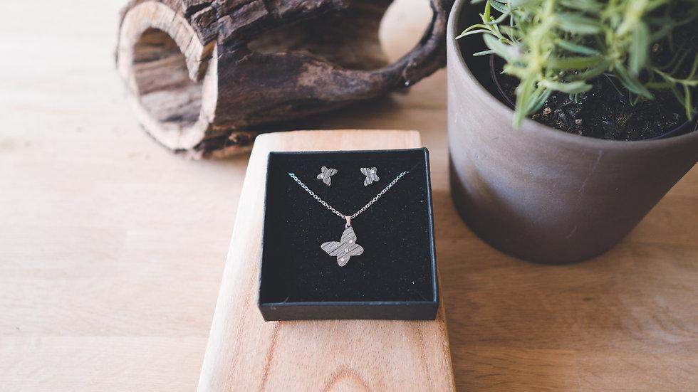 Eydl Lumia Cristal Eiche grau Schmetterling Set