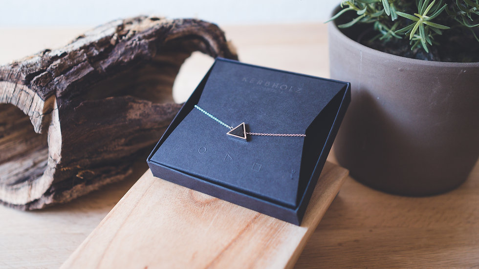 Kerbholz Armband Triangle Sandelholz