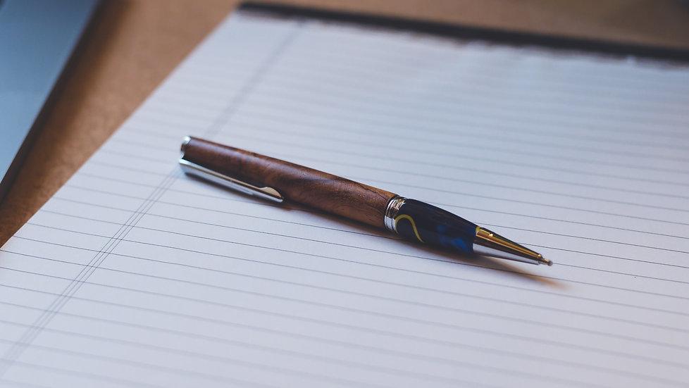 Kugelschreiber Elegant Chrom Ozeanblau