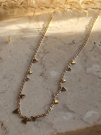 Collier pampilles triangulaires