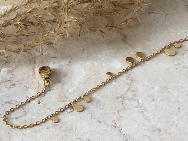 """Bracelet chaine """"gouttes d'eau"""""""