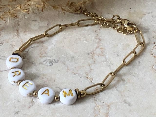 "Bracelet chaine ""DREAM"""