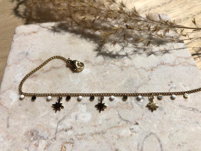 Bracelet étoile et perle blanche