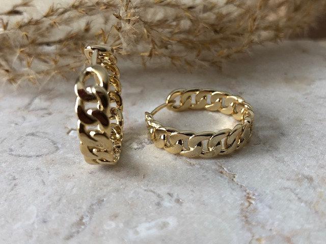Boucles d'oreilles anneaux mailles