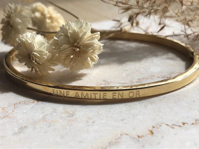 """Bracelet  """"Une amitié en or """""""
