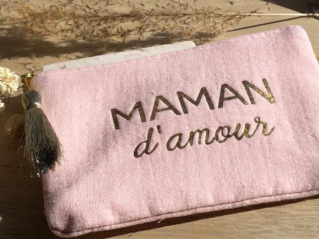"Pochette "" maman en or """