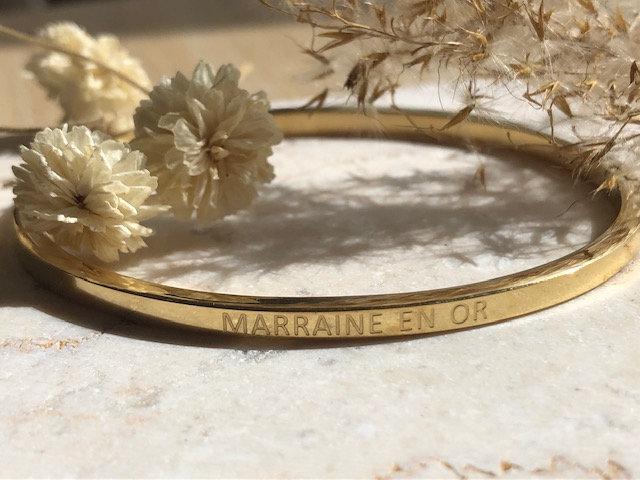"""Bracelet """"marraine en or """""""